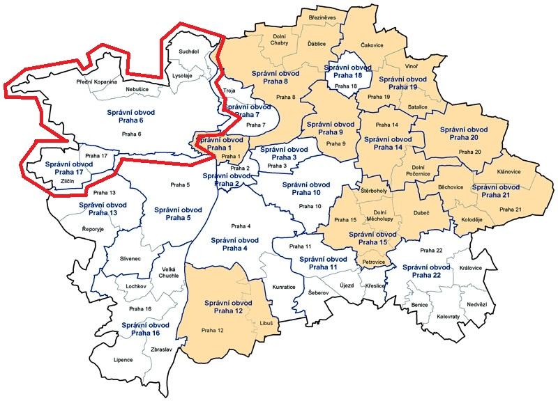 Mapa Mapa Praha 6